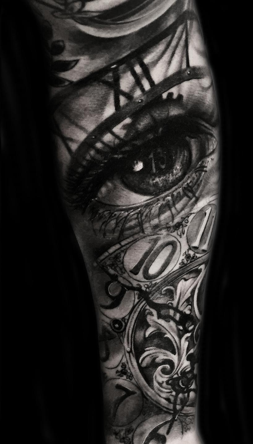 best black grey tattoo Austin tx portrait realism 3d best tattoo Texas